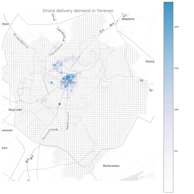 Yerevan drone demand